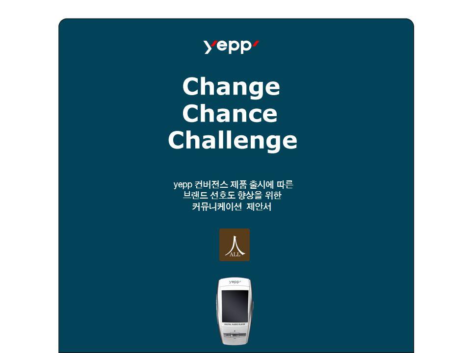 yepp 컨버전스 제품 출시에 따른 브랜드 선호도 향상을 위한 커뮤니케이션 제안서