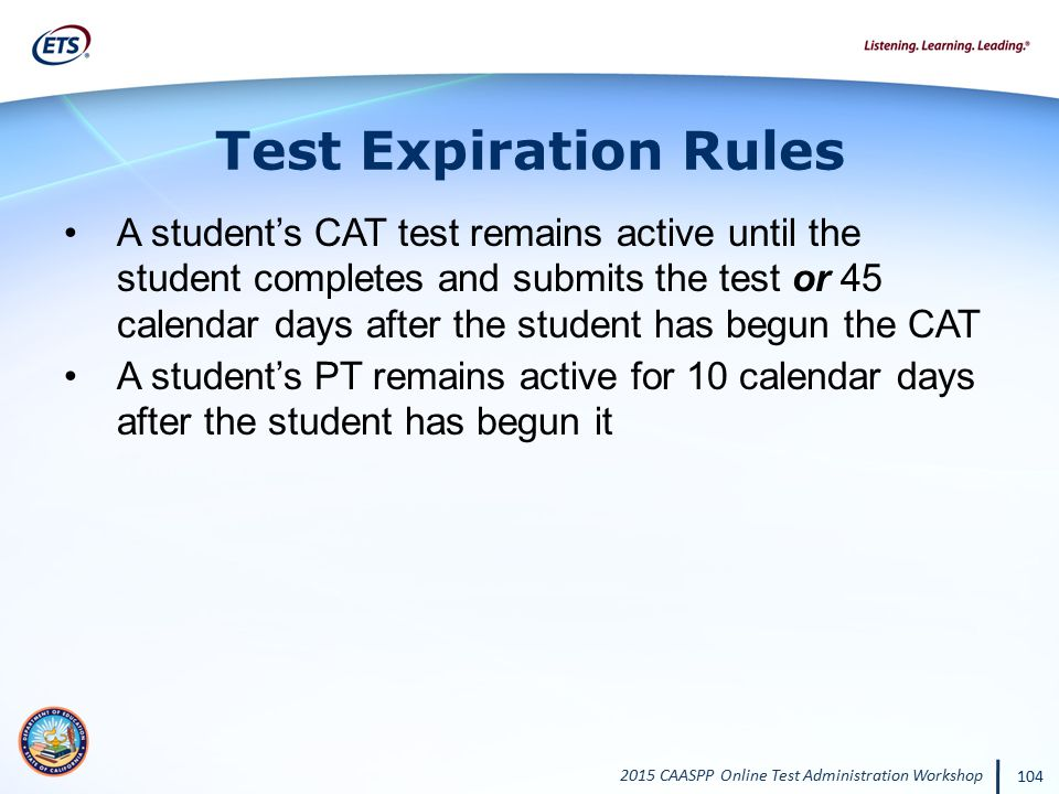 Test Expiration Rules