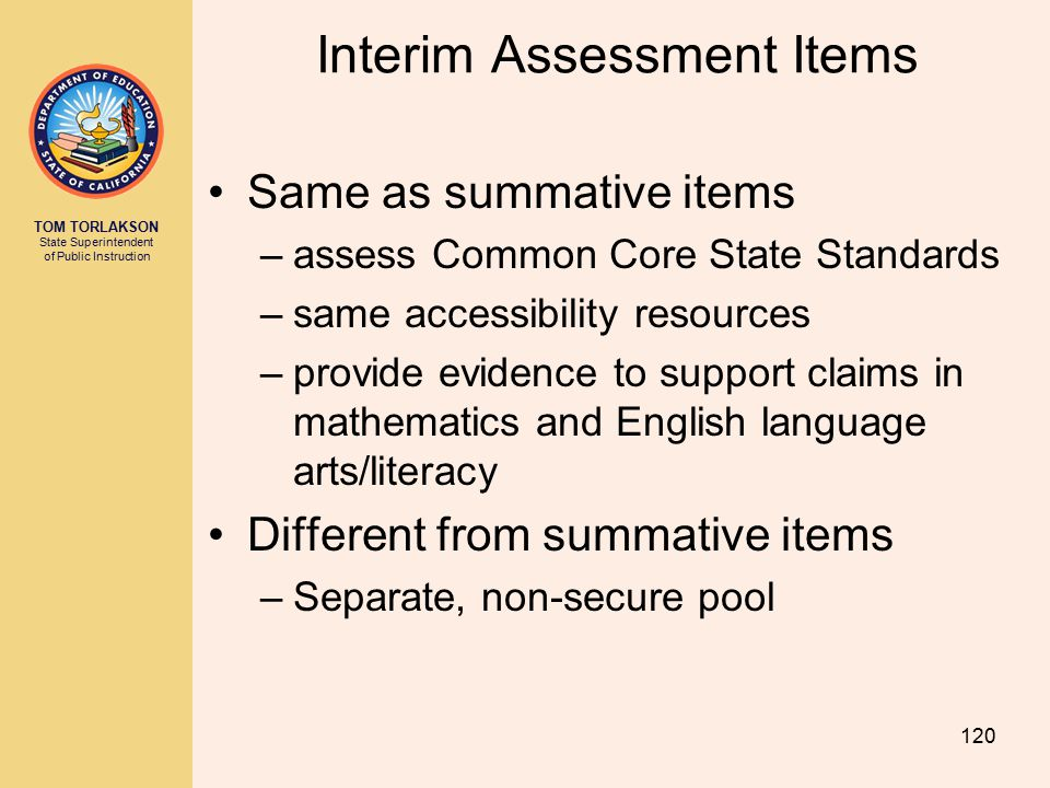 Interim Assessment Items