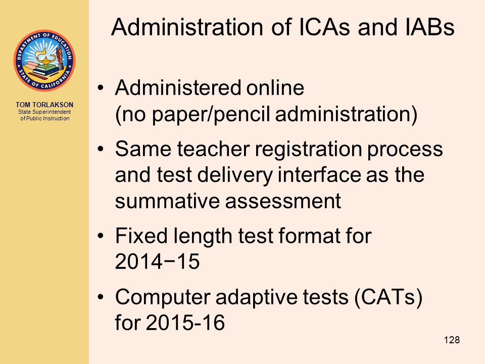 Administration of ICAs and IABs
