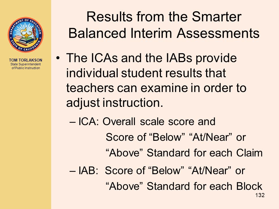 Results from the Smarter Balanced Interim Assessments