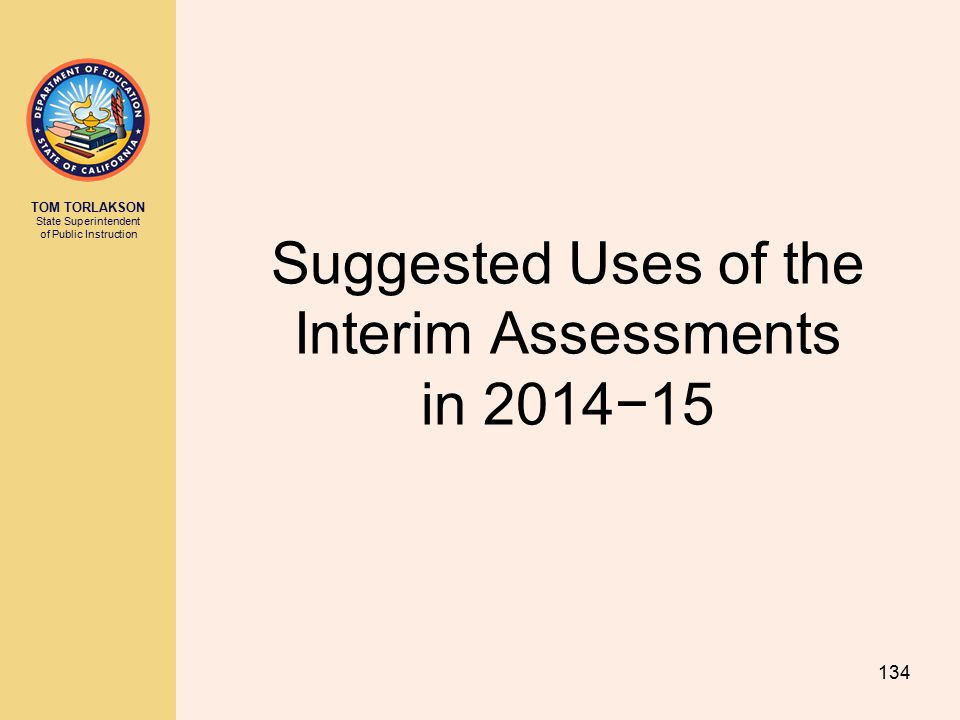 Suggested Uses of the Interim Assessments in 2014−15