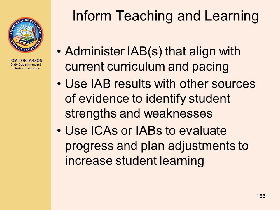 Inform Teaching and Learning