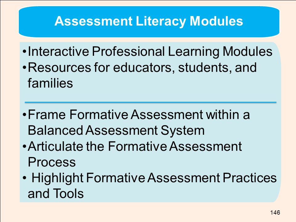 Assessment Literacy Modules