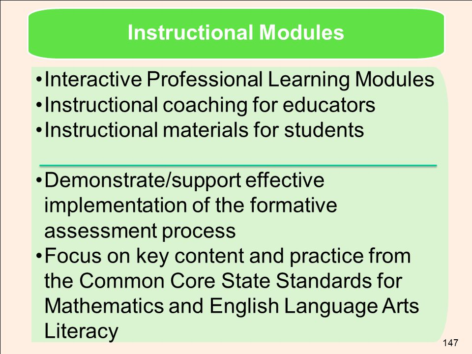 Instructional Modules