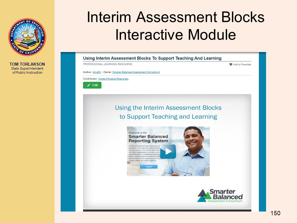 Interim Assessment Blocks Interactive Module