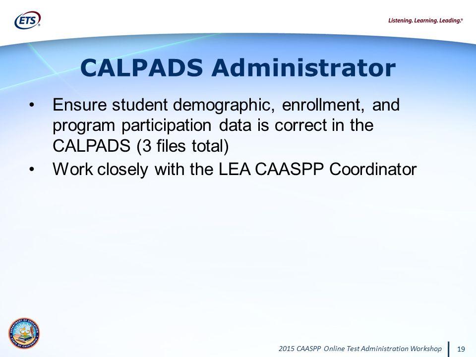 CALPADS Administrator