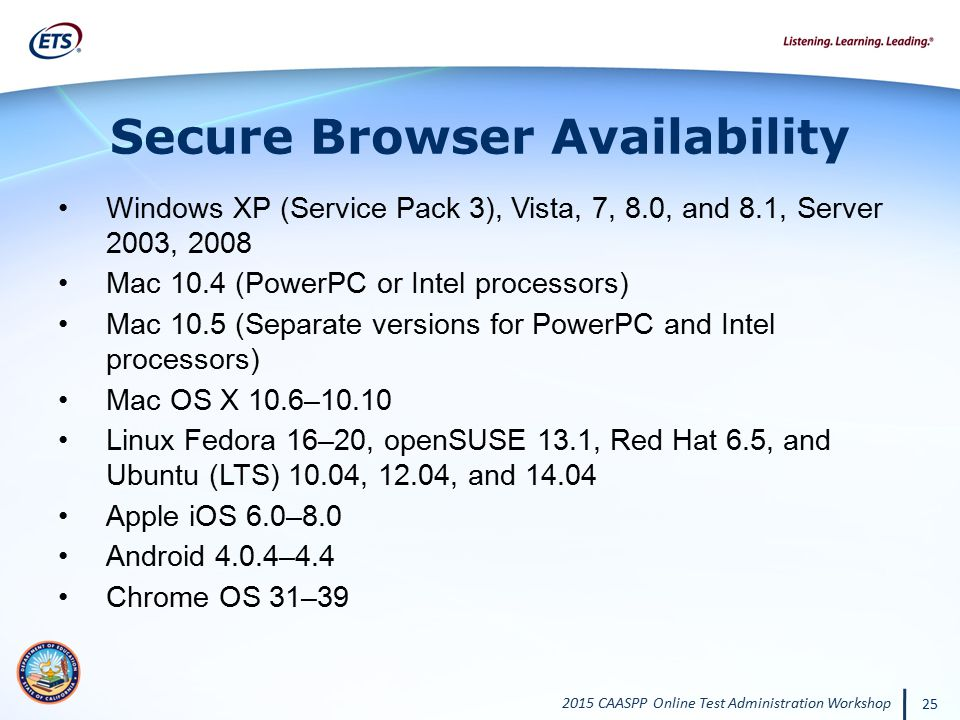 Secure Browser Availability