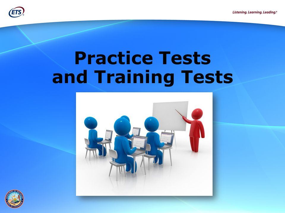 Practice Tests and Training Tests