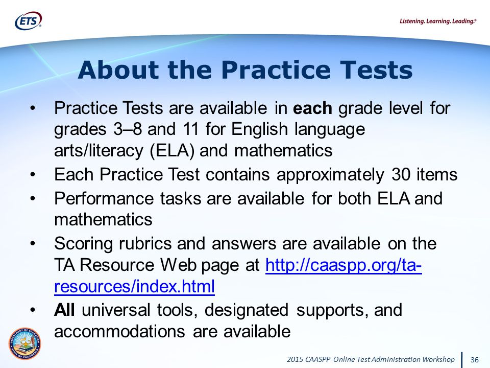 About the Practice Tests