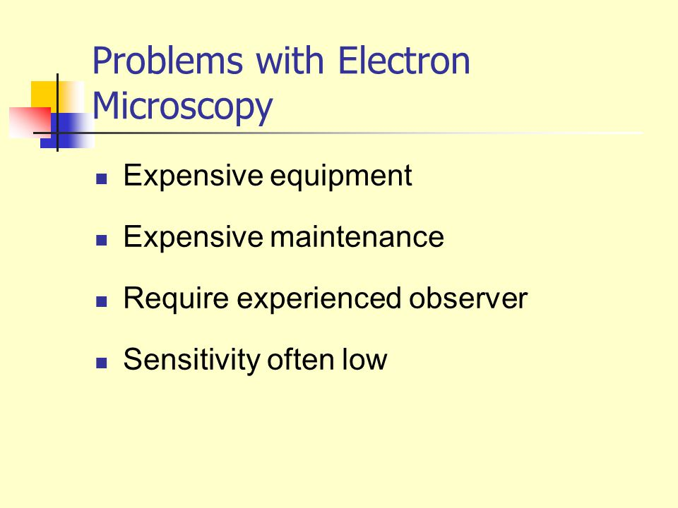 Problems with Electron Microscopy