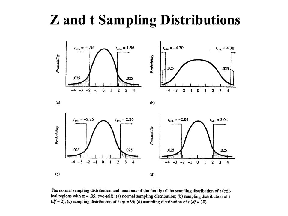Z and t Sampling Distributions