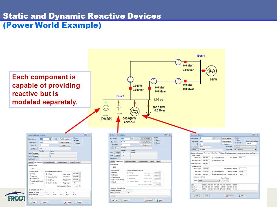 Static and Dynamic Reactive Devices (Power World Example)