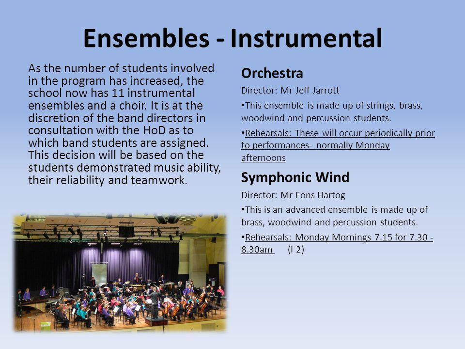 Ensembles - Instrumental