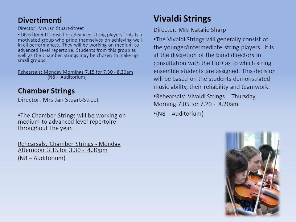 Vivaldi Strings Divertimenti Chamber Strings