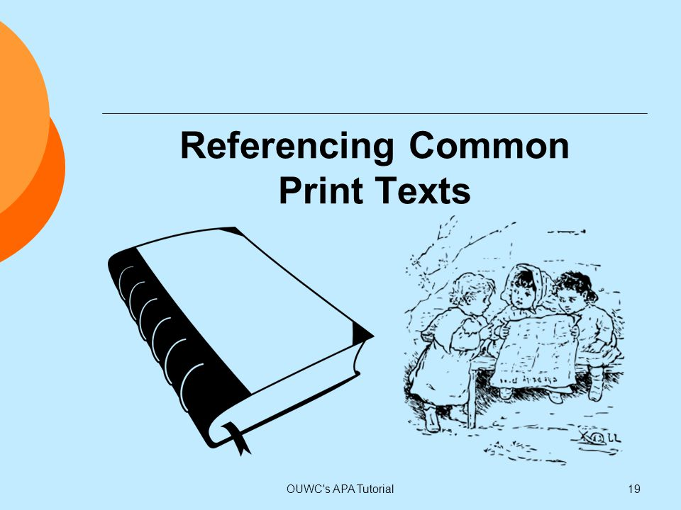 Referencing Common Print Texts