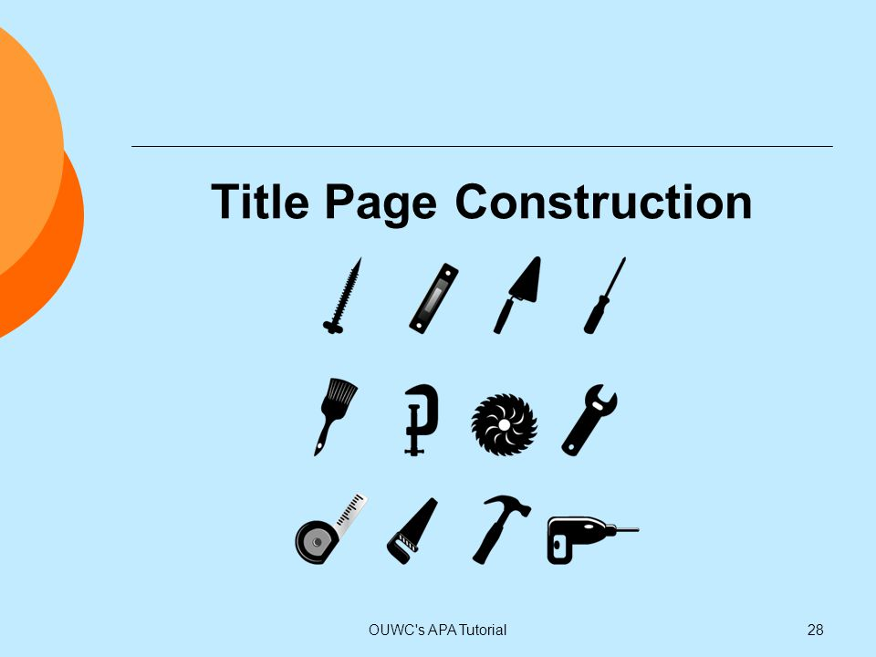 Title Page Construction