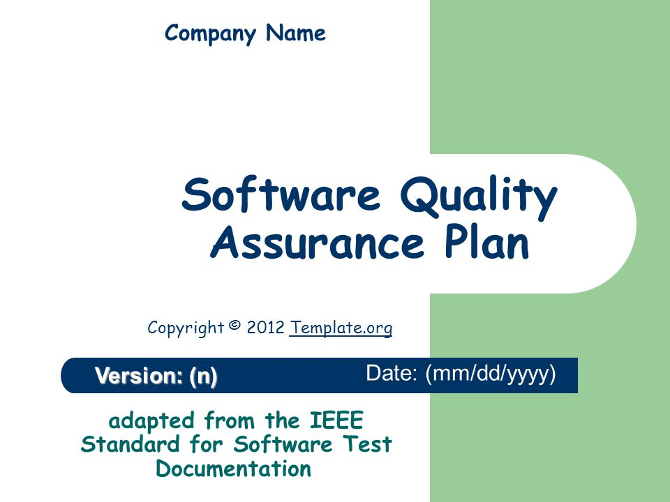 Software quality assurance plan ppt video online download software quality assurance plan pronofoot35fo Image collections