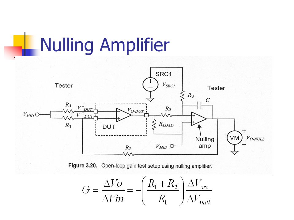 Nulling Amplifier