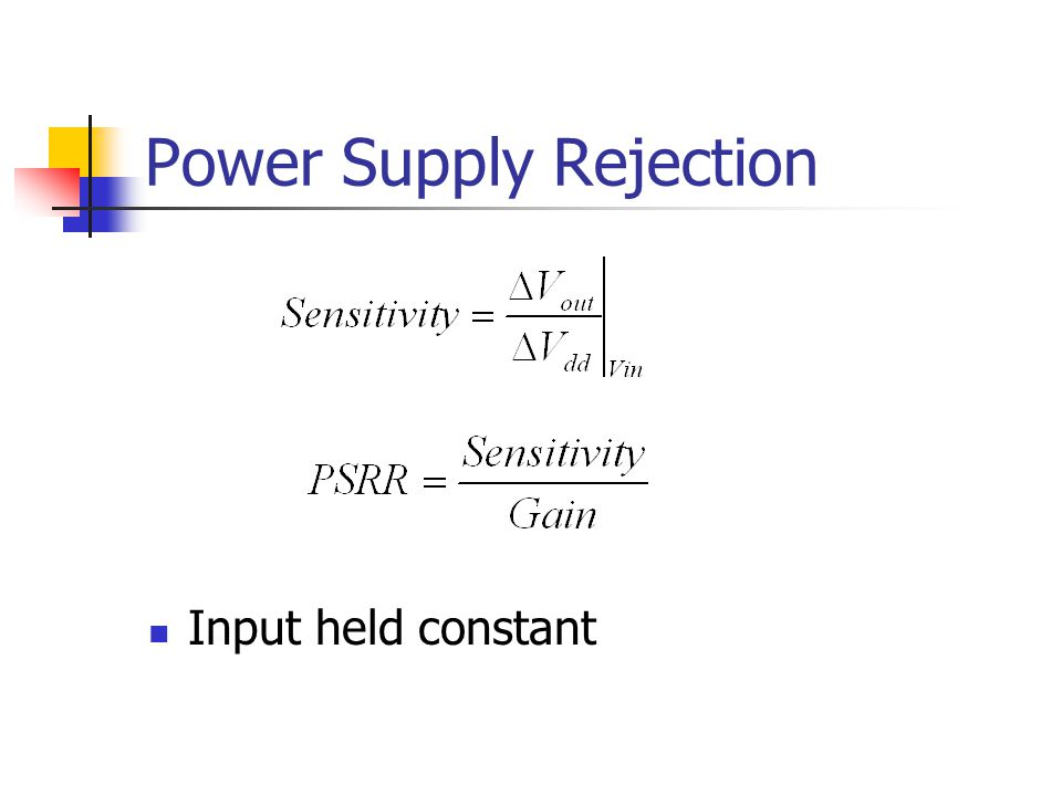 Power Supply Rejection