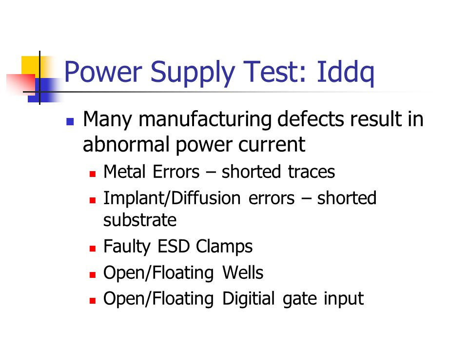 Power Supply Test: Iddq