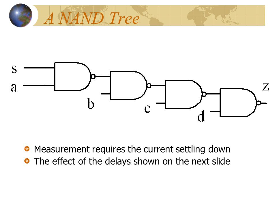 A NAND Tree Measurement requires the current settling down