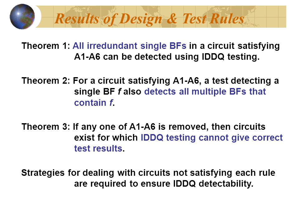 Results of Design & Test Rules