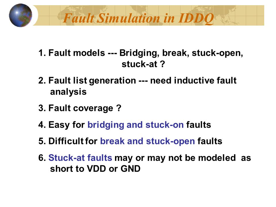 Fault Simulation in IDDQ