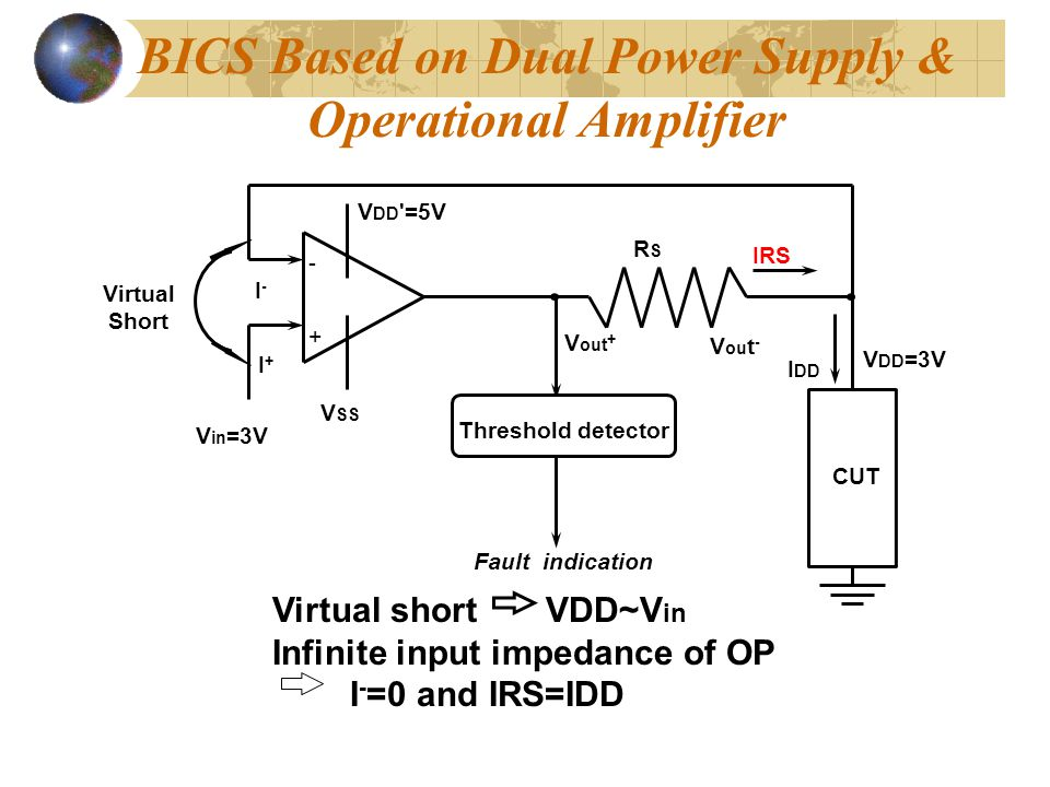 BICS Based on Dual Power Supply & Operational Amplifier