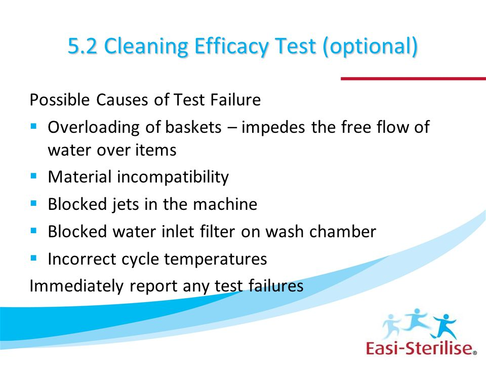 5.2 Cleaning Efficacy Test (optional)