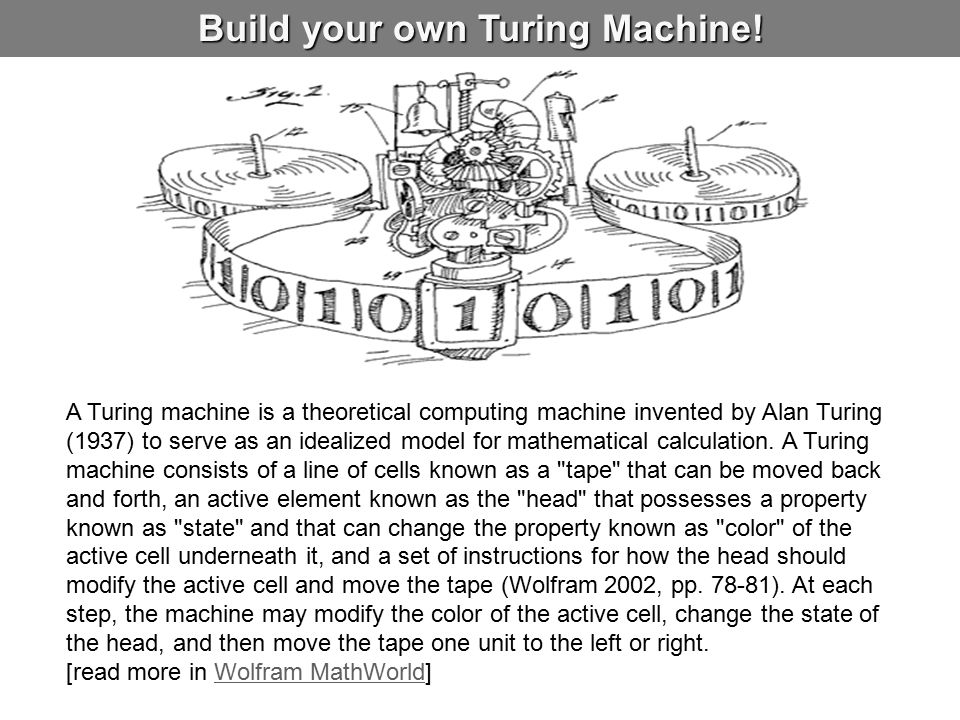 Build your own Turing Machine!