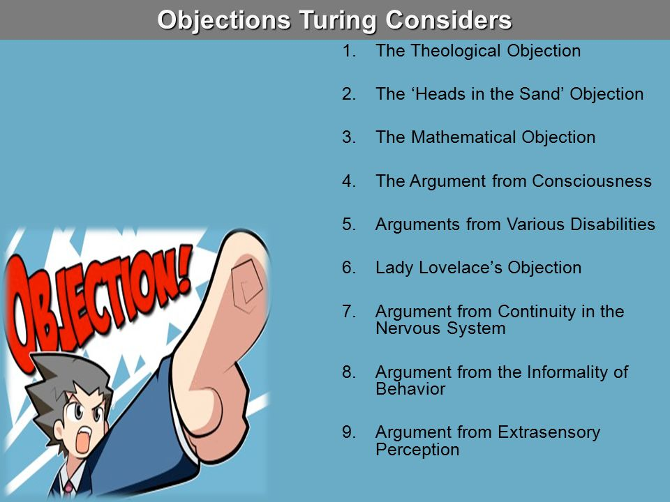 Objections Turing Considers
