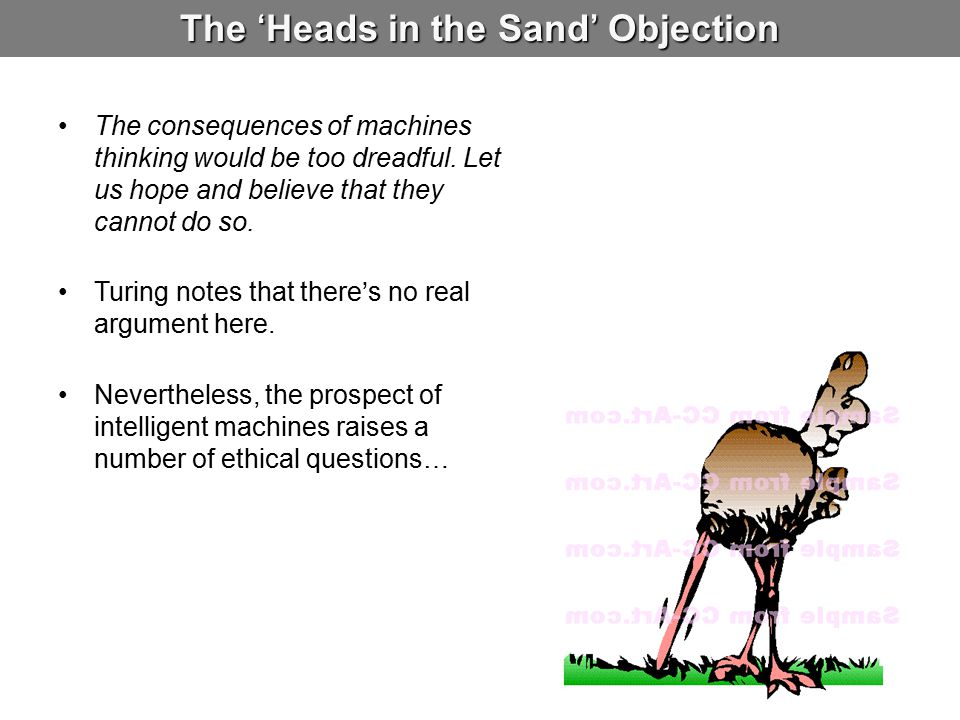 The 'Heads in the Sand' Objection