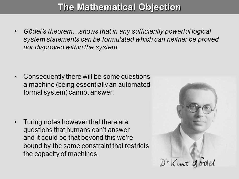 The Mathematical Objection