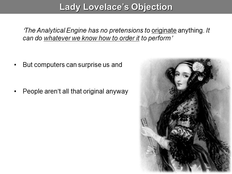 Lady Lovelace's Objection