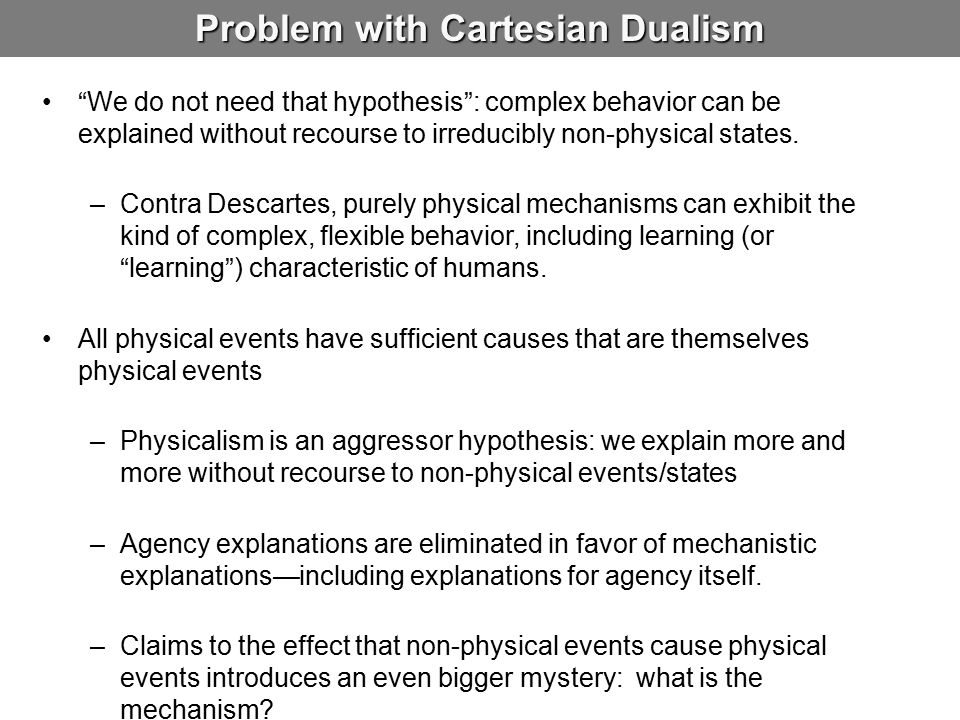 Problem with Cartesian Dualism