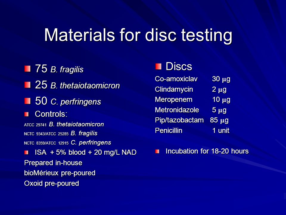 Materials for disc testing