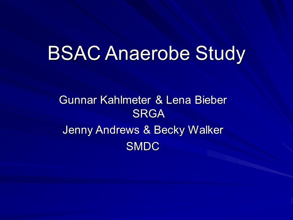 BSAC Anaerobe Study Gunnar Kahlmeter & Lena Bieber SRGA