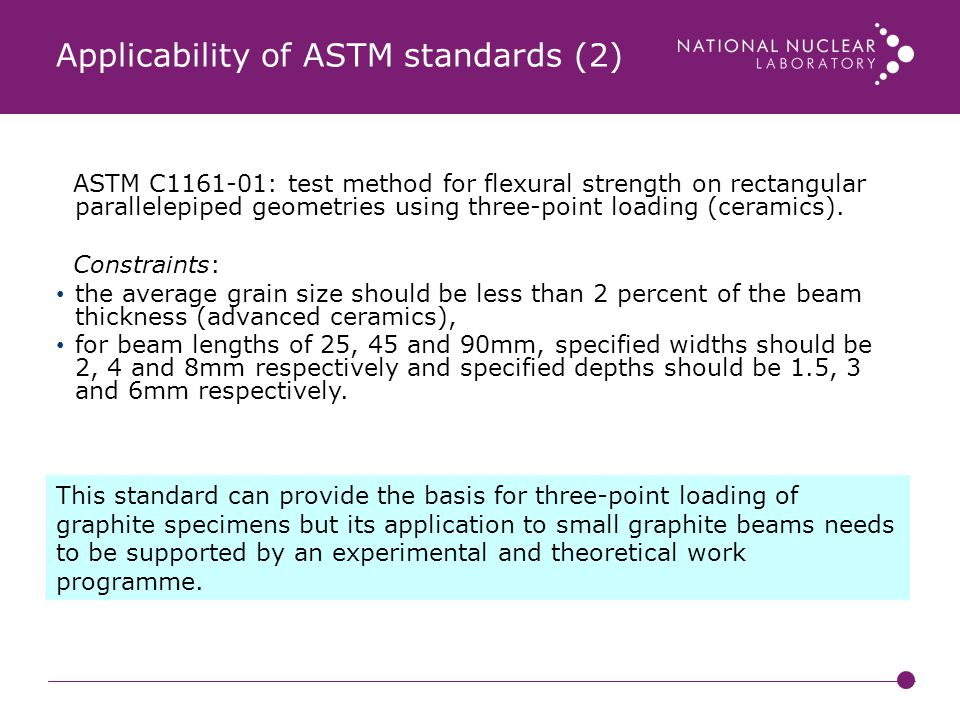 Applicability of ASTM standards (2)
