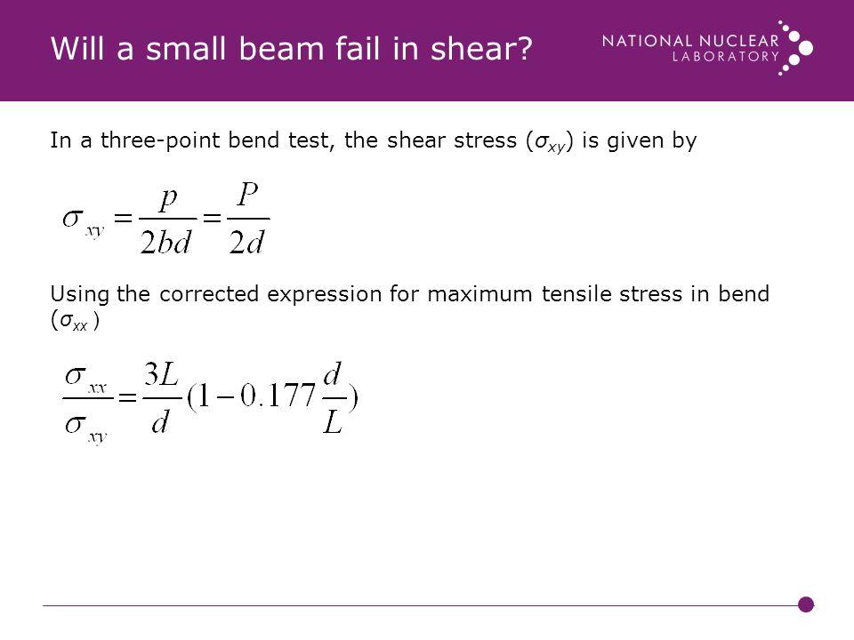Will a small beam fail in shear