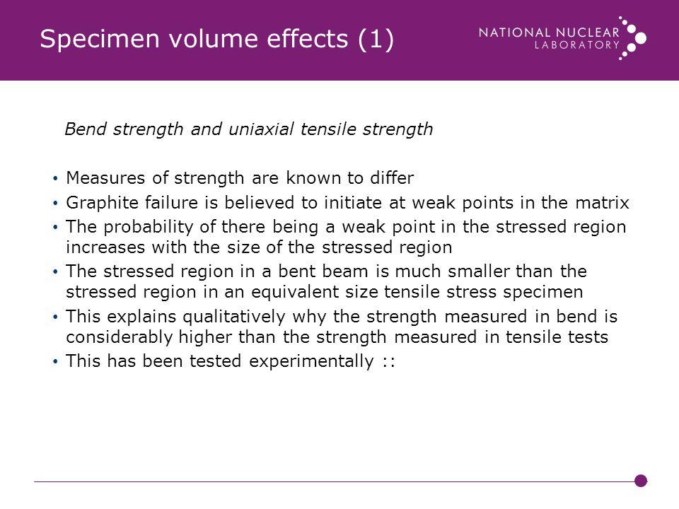 Specimen volume effects (1)