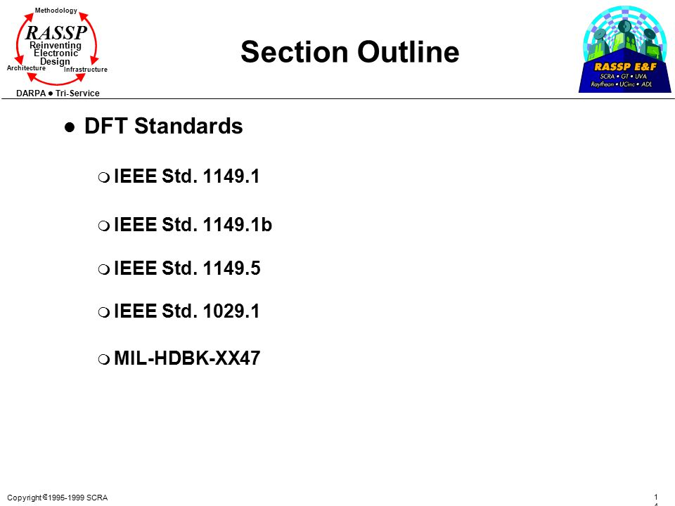 Section Outline DFT Standards IEEE Std. 1149.1 IEEE Std. 1149.1b