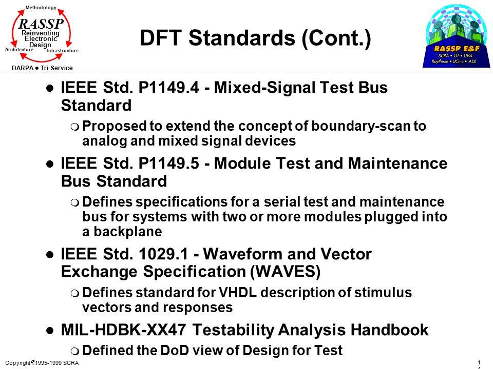 DFT Standards (Cont.) IEEE Std. P1149.4 - Mixed-Signal Test Bus Standard.
