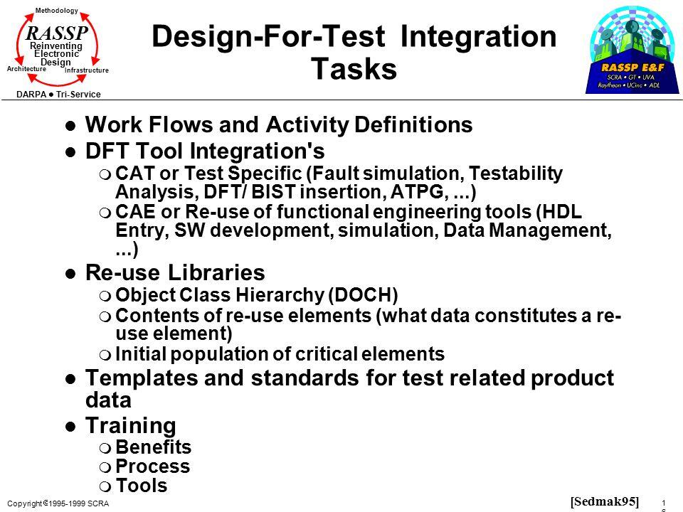 Design-For-Test Integration Tasks