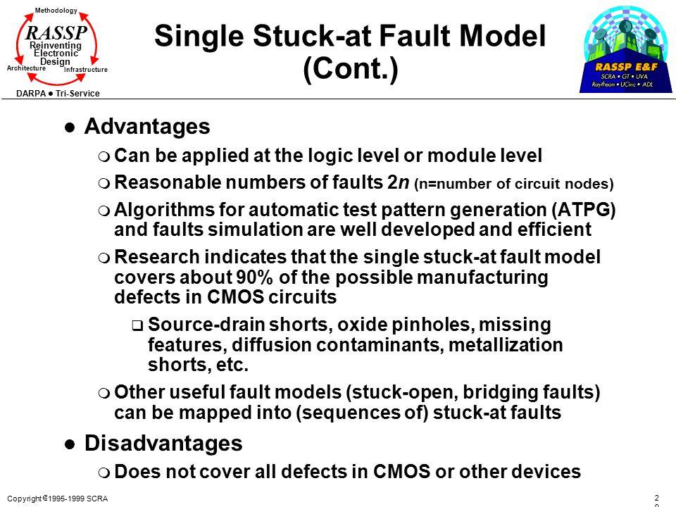 Single Stuck-at Fault Model (Cont.)