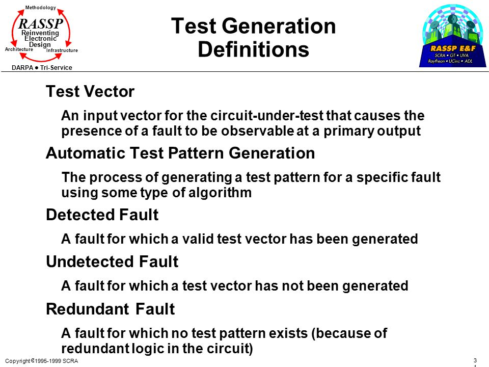 Test Generation Definitions