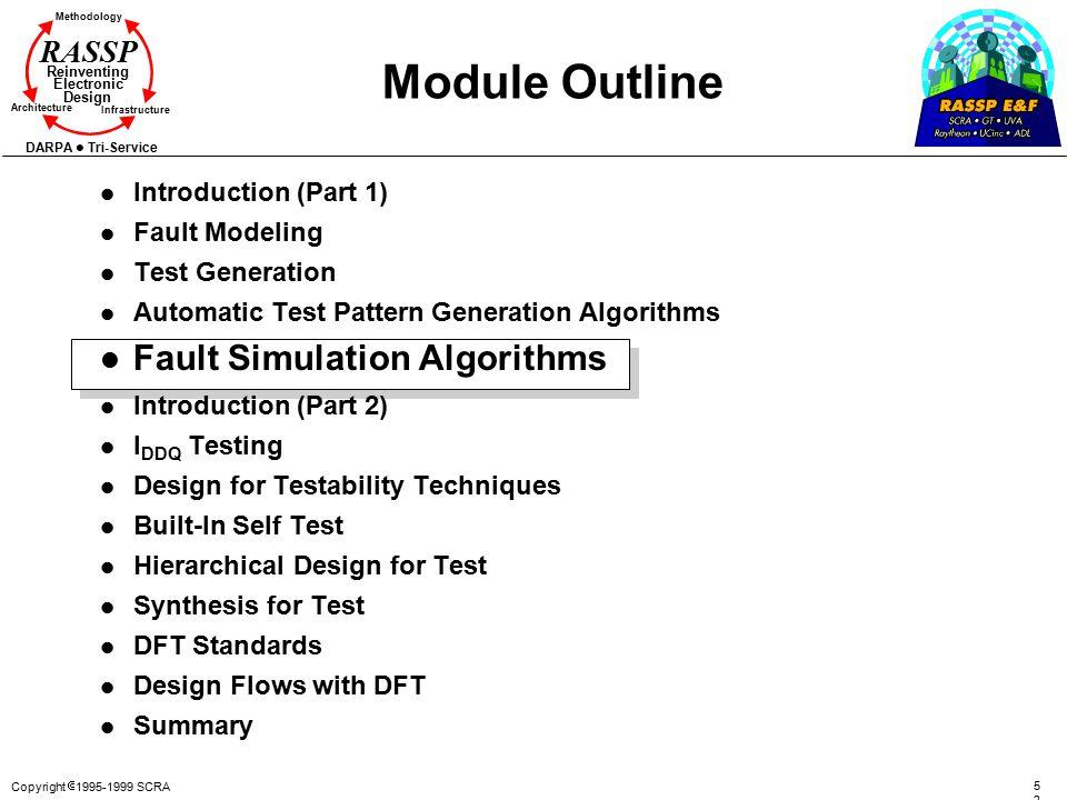 Module Outline Fault Simulation Algorithms Introduction (Part 1)