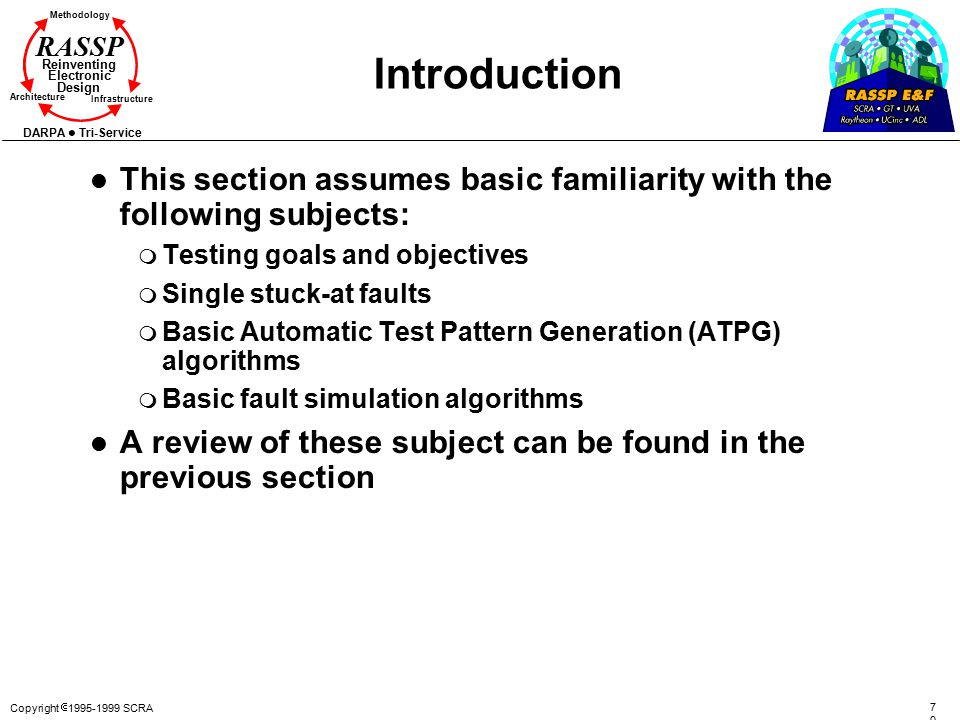 Introduction This section assumes basic familiarity with the following subjects: Testing goals and objectives.
