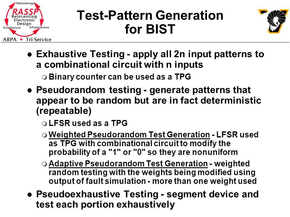 Test-Pattern Generation for BIST