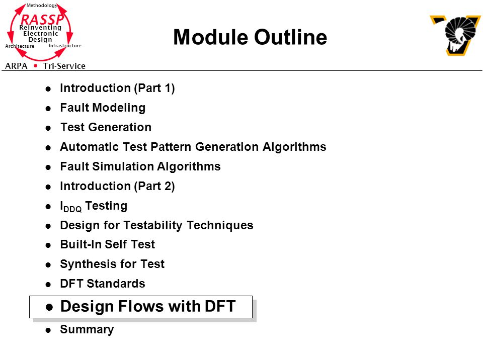 Module Outline Design Flows with DFT Introduction (Part 1)